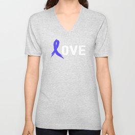 Love - Colon Cancer Unisex V-Neck