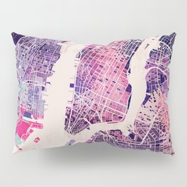 New York Mosaic Map #1 Pillow Sham