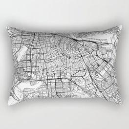 Amsterdam White Map Rectangular Pillow