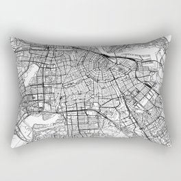 Amsterdam White Map Rectangular Pillow