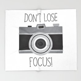 Don't Lose Focus! Throw Blanket