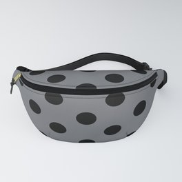 Grey & Black Polka Dots Fanny Pack