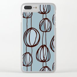 Beach flowers Clear iPhone Case