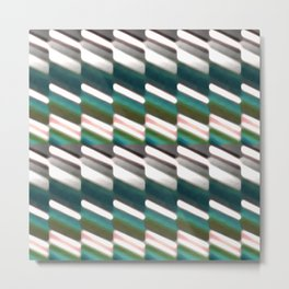 Geo Stripes Print Pattern Metal Print