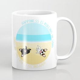 Frenchies Rolling In The Sand Coffee Mug