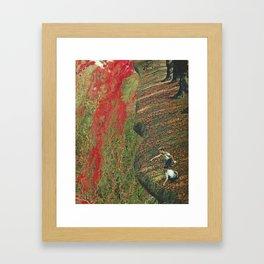 River Run Red Framed Art Print