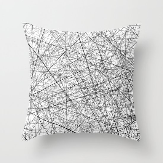 Lineric Throw Pillow