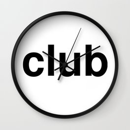 club Wall Clock