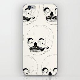 Moustatche Skull iPhone Skin