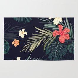Dark tropical Rug