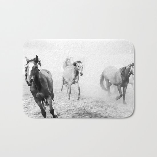 Running with the horses Bath Mat