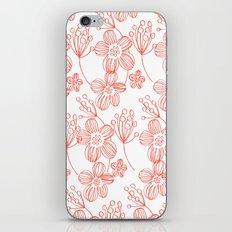 orange flowers iPhone Skin