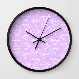 DIAMOND ((lilac)) Wall Clock