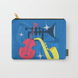 Jazz Composition With Bass, Saxophone And Trumpet Carry-All Pouch