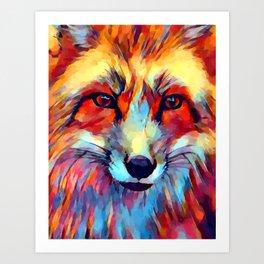 Fox Watercolor 2 Art Print