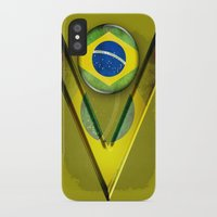 brasil iPhone & iPod Cases featuring Brasil by ilustrarte