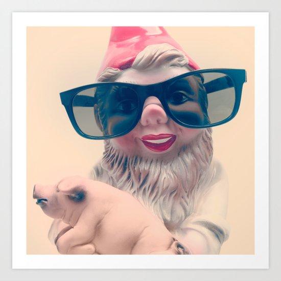 Fashion Gnome Art Print
