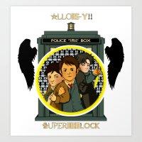 superwholock Art Prints featuring Superwholock by nolongerinuse