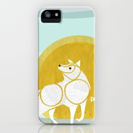 WOLF MOON RISING iPhone Case