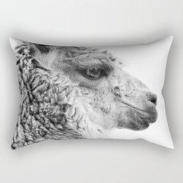 Llama Drama | Alpaca Animal Photography Rectangular Pillow