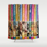 books Shower Curtains featuring Books by christennoelle