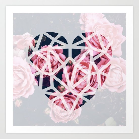 heart roses Art Print