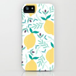 Lemon & Blueberry Pastel iPhone Case