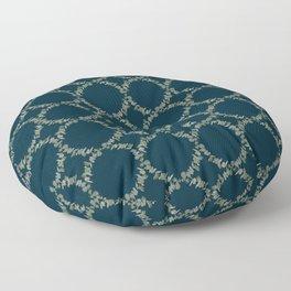 Eucalyptus Patterns with Navy Blue Background Realistic Botanic Patterns Organic & Geometric Pattern Floor Pillow