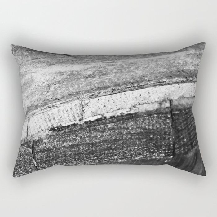 Barrels In Black & White Rectangular Pillow