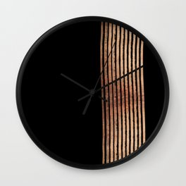 All That Glitters In Rose Gold Wall Clock
