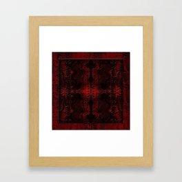 Snake Skin In Red Framed Art Print