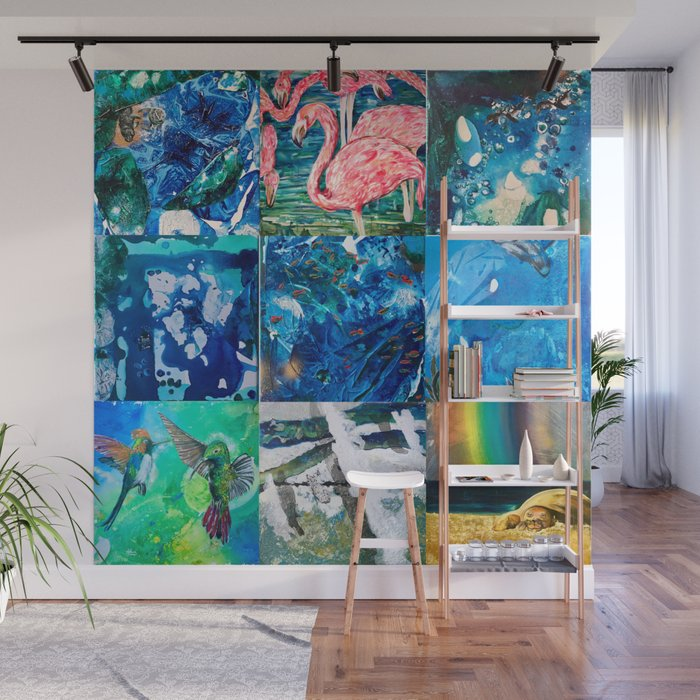 Environmental Tropical Oceans and Animals Wall Mural by anoellejay