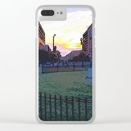 Thomas Circle and the Setting Sun Clear iPhone Case