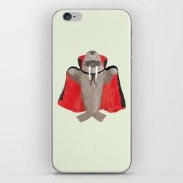 Vampire Walrus iPhone Skin