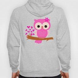 Pink Owl On A Branch | 8 Bit Pixel Art Hoody