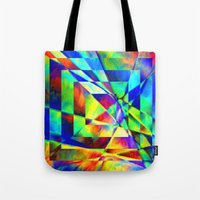 illusion Tote Bags featuring Illusion. by Assiyam