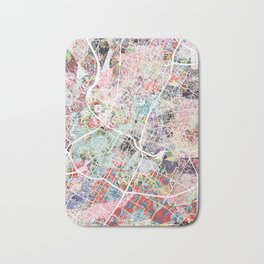 Austin map - Portrait Bath Mat