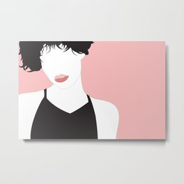 Pink Girl (1) Metal Print