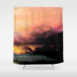 High Feelings by Debbie Porter - Designs of an Eclectique Heart Shower Curtain