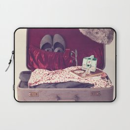 Vintage Journey Suitcase (Hers) (Retro and Vintage Still Life Photography)  Laptop Sleeve