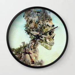 Nature Skull Wall Clock