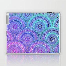 Aqua Blue Purple and Pink Sparkling Glitter Circles Laptop & iPad Skin