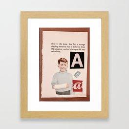 Broken System Broken Arms Framed Art Print