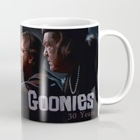 the goonies Mugs featuring The Interrogation Of Chunk (The Goonies) by lensebender