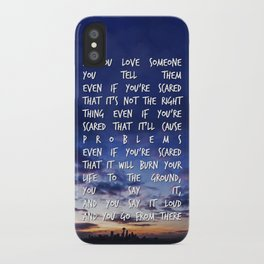 If You Love Someone iPhone Case
