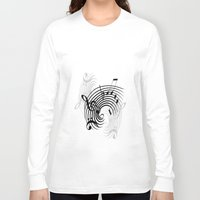 music notes Long Sleeve T-shirts featuring Music Notes by Svetlana Sewell