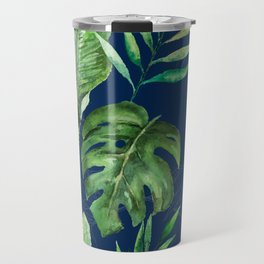 Tropical Leaves Banana Palm Tree Travel Mug