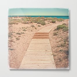 A Beautiful Spring Day at the Beach Metal Print