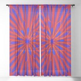 Flower mandala Sheer Curtain