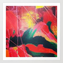 Fenêtre sur la campagne Art Print